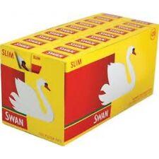 SWAN SLIM Pre Cut Cigarette Filter Tips Half Box 10 X 102