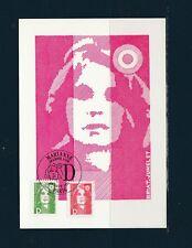 carte  1er jour  marianne  D vert et  D rouge    1991