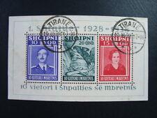ALBANIA 1938 FOGLIETTO N. 3 IL TERZO USATO CAT. MICHEL € 130,00