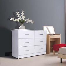 Redfern 6 Drawer Chest/Lowboy/Dressers,White, Deep Drawers