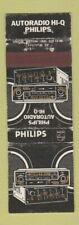 Matchbook Cover - Philips Car Radio Belgium WEAR