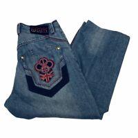 Vintage Coogi Australia Embroidered Jeans Men's Size 34x26 Hip Hop