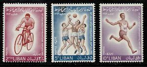 Lebanon Scott 415-417 Basketball, Track & Cycling 1964  MNH  L1