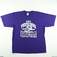 2004 Kansas State Wildcats Mens Sz XL Tostitos Fiesta Bowl Purple T-Shirt