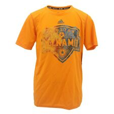 Houston Dynamo MLS Adidas Climalite Kids Youth Size Athletic T-Shirt New Tags