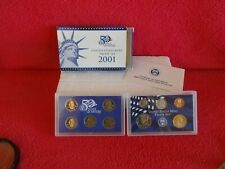 FROM 2001, UNITED STATES MINT 10 COIN SET, ORIGINAL BOX & COA CERTIFICATE ......