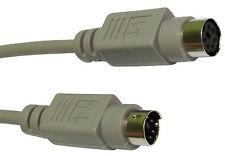 10m Ps2 Ps/2 Cable de extensión Teclado Mouse Extensor Kvm Plomo Ps 2 Macho/hembra