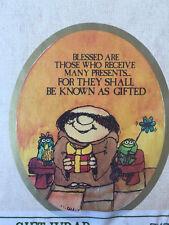 RARE Vintage NEW American Greetings Bible Cartoon Birthday Party Gift Wrap USA