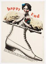 HAPPY END Original Vintage 60s Movie Poster Milan Grygar Artwork A3 Size