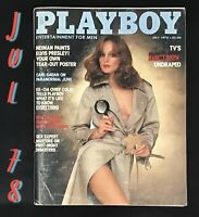 1978 July, Playboy Magazine, VERY GOOD Condition, William Colby Interview
