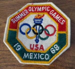 Vintage 1968 Summer Olympic Games Team USA Mexico City XIX Olympiad Patch NOS