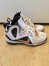 Nike Lebron 9 P.S. Elite Home Whit Metallic Gold Black Size 9