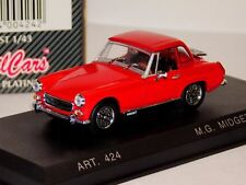 MG MIDGET MKIV MK4 RED WITH HARD TOP 1969 DETAIL CARS ART 424 1/43