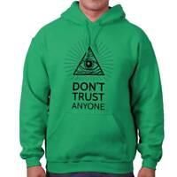 Eye Of Providence Dont Trust Anyone Illuminati Cool Symbol Hooded Sweatshirt