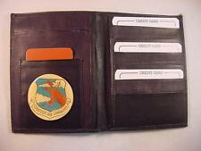 SAC STRATEGIC AIR COMMAND LOGO BLACK LEATHER BIFOLD PASSPORT WALLET CARD HOLDER