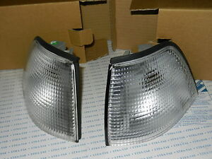 NEW BMW 3 SERIES E36 1990-2000 FRONT INDICATOR PAIR CLEAR SALOON ESTATE COMPACT