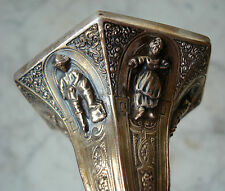 """Antique BAROQUE Figural SILVER Candlestick ~ GERMAN or DUTCH 12 5/8"""" Tall"""