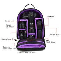 Fashion DSLR SLR Camera Backpack Shoulder Bag Waterproof for Canon Nikon Sony
