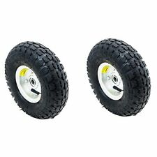 "2PC Tires Set 10"" Steel Air Pneumatic Wheel Hand Truck Dolly Wagon Industrial"