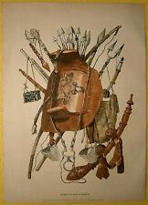 ca.1880 print WEAPONS AND HARNESS, SENEGAL (#32)