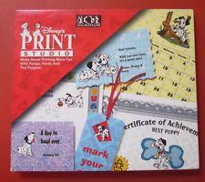 Print Studio Disney 101 Dalmatians Interactive CD-ROM Windows Best Puppy Digipak