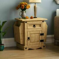 Corona Solid Pine Rustic 1 Drawer Magazine Rack Traditional Mexican Furniture