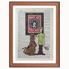 Scooby Doo vs  - Obey - Shepard Fairey - dictionary page page art print gift
