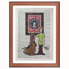 SCOOBY DOO VS-OBEY-Shepard Fairey-pagina di dizionario pagina ART PRINT Gift