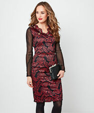 Joe Browns Womens Lace Bodycon Dress with Sheer Sleeves
