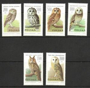 POLAND SG3320-3325 OWLS  1990 MNH