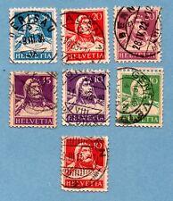 SWITZERLAND stamps 1914 William Tell. Seven stamps