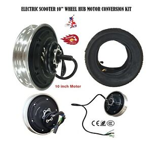 36V 48V 350-1000W Motor 10inch Vacuum Tire Conversion kit Electric Scooter Wheel