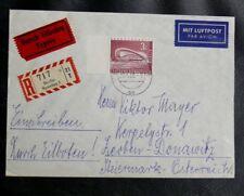 TIMBRES D'ALLEMAGNE : BERLIN 1958 YVERT N° 135A SUR ENVELOPPE RECOMANNDé - TBE