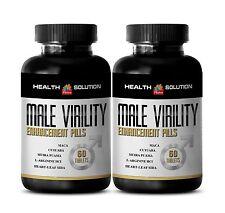 Sexuales - MALE VIRILITY Organic Enhancement Pills Tribulus Maca 2 Bottles