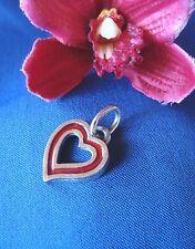 Esmaltes corazón colgante Charm 800 plata sumario Charms corazoncito/ff396