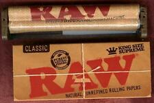 RAW Hemp Plastic 110mm Roller + King Size Supreme Rolling Papers 40 leaves pack