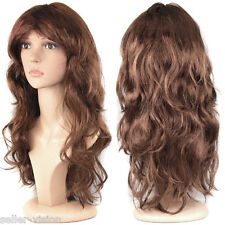 Accessotech Women's Long Curly Fancy Dress Wigs Cosplay Costume Ladies Full