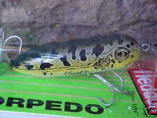Heddon Baby TORPEDO 3/8oz Topwater X0361NF in Natural Leopard Frog - Bass/Pike