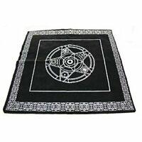 Altar Tarot Square Black Pentagram Tablecloth