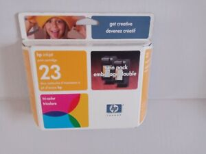 New In Box HP 23 Twin Pack Tricolor Inkjet Printer Cartridges~Free Shipping!