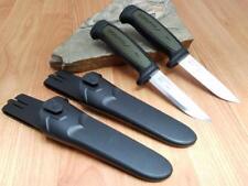 2 Pc Lot Mora Morakniv Basic 511 Carbon Steel Green & Black Camp Knife 02210