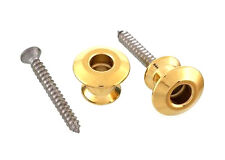 Dunlop Guitar Strap Buttons for Straplock Strap Lock Endpins End Pins • Gold
