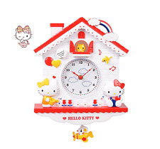 Hello Kitty Swing Clock Wall Clock W/T Pendulum Home Decoration Girl Best Gift