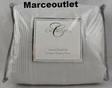 Charisma Luxury Cotton Linen Full / Queen Duvet Cover & Shams Set Gray
