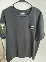 "Avirex Men's Patched Crew Neck T-Shirt Black Size XXL(44""Chest/29""L) NWOT"