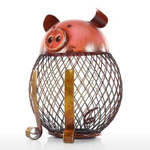 Piggy Bank Children Toy Bank Iron Coin Holder Kids Coin Money Cash Decoratio