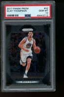 2017 Panini Prizm #42 Klay Thompson Golden State Warriors PSA 10 GEM MINT