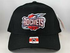 NBA Houston Rockets Vintage American Needle Black Fitted Hat Cap Size 6 7/8