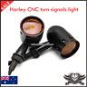 4x Black Motorcycle Turn Signal indicator Light Harley Ultra Tour Glide Classic