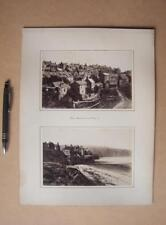 Robin Hoods Bay  . Victorian Photographs mounted on album card
